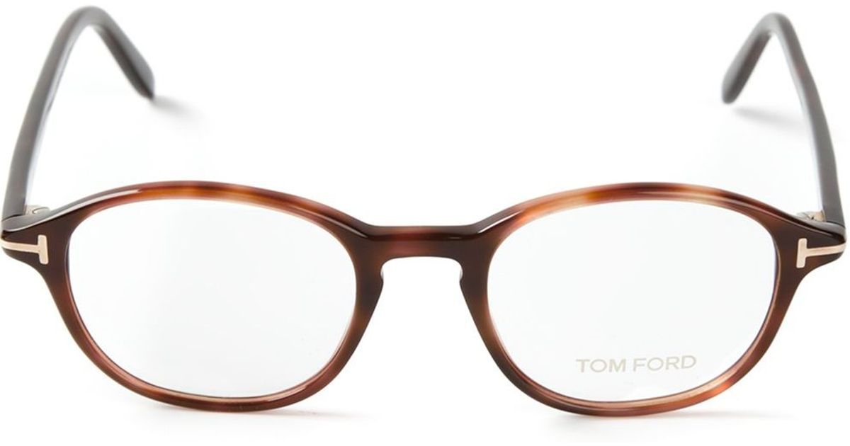56bfeb71ca Tom Ford Tortoise Shell Glasses in Brown - Lyst