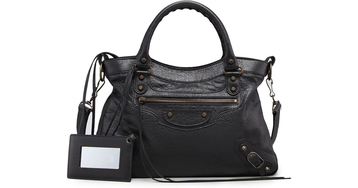 1c0535d15860 Lyst - Balenciaga Classic Town Bag in Black