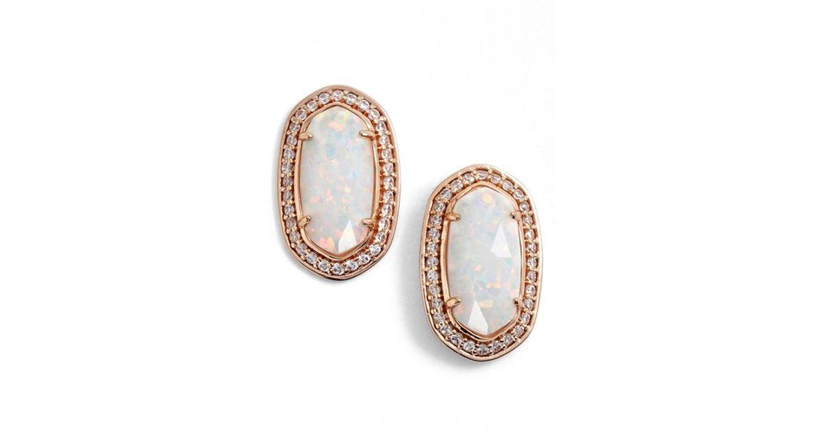 3de4974a7d72 Kendra Scott 'elaine' Stud Earrings in Metallic - Lyst