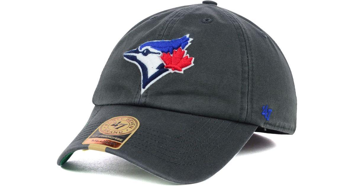 outlet store 3645c 69d5b ... promo code lyst 47 brand toronto blue jays mlb hot corner franchise cap  in black for discount ...
