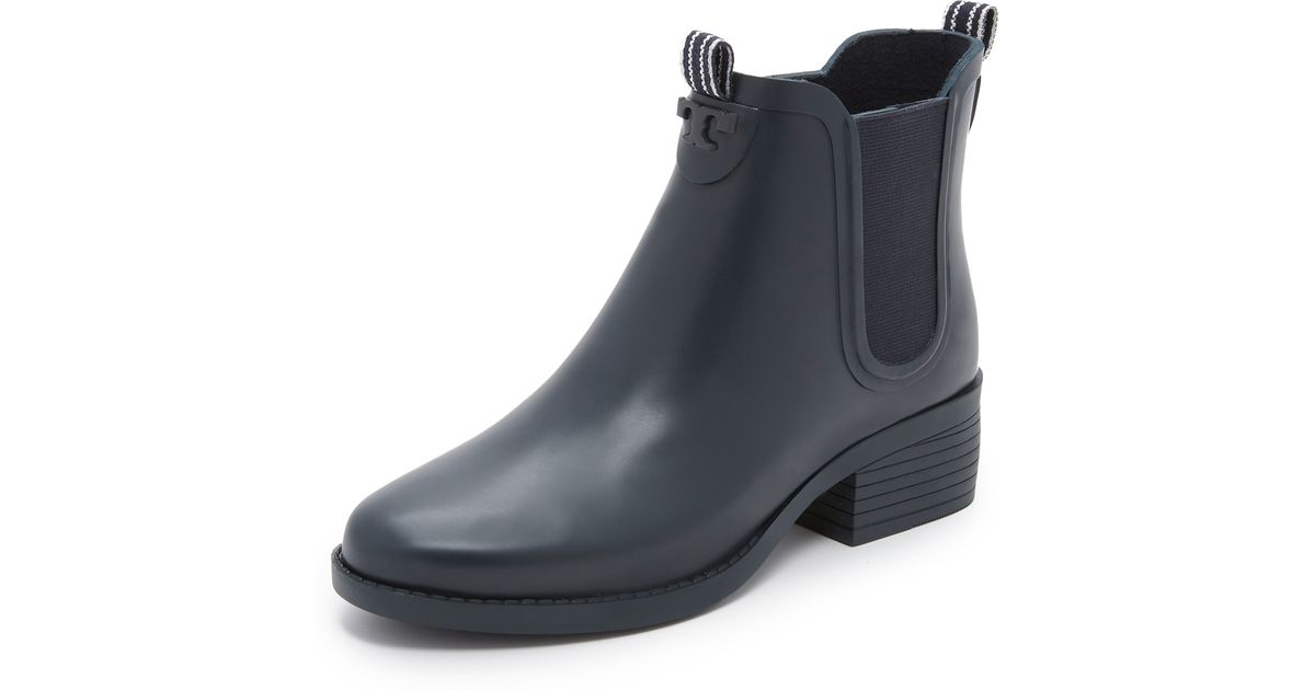 717b6a4ee656 Lyst - Tory Burch Classic Rain Booties in Black