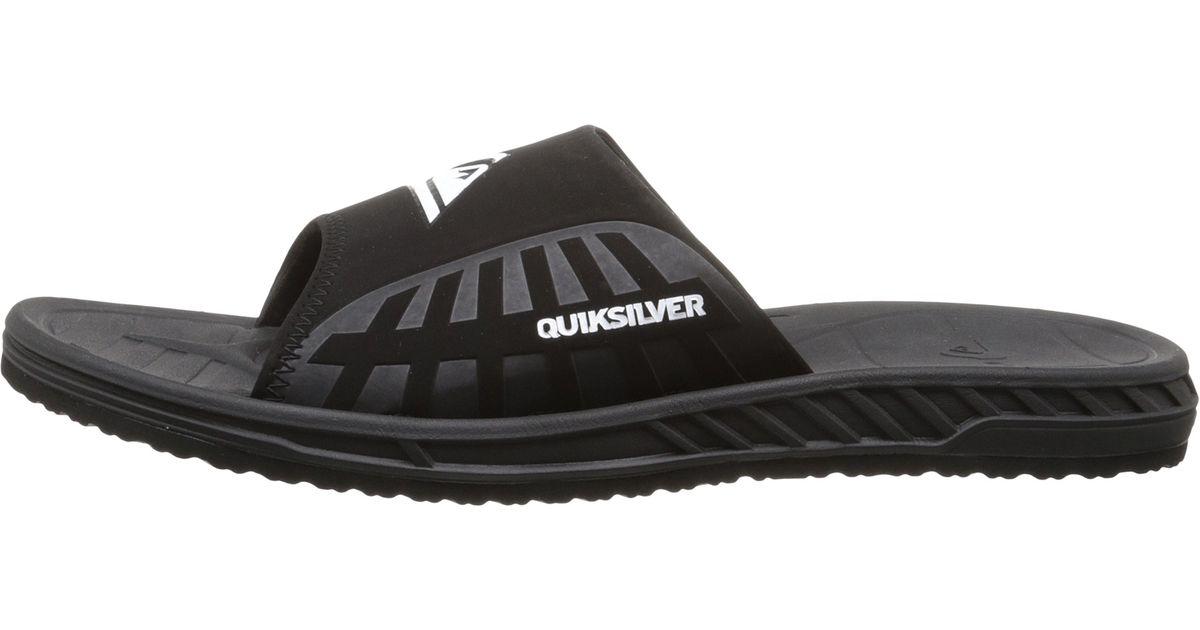 7d30e25e5df2 Lyst - Quiksilver Triton Slide in Black for Men