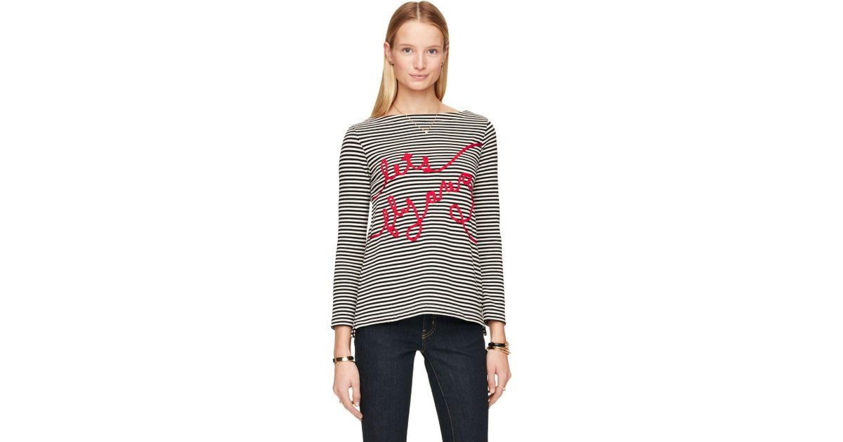 lyst kate spade new york let s fly away top in black