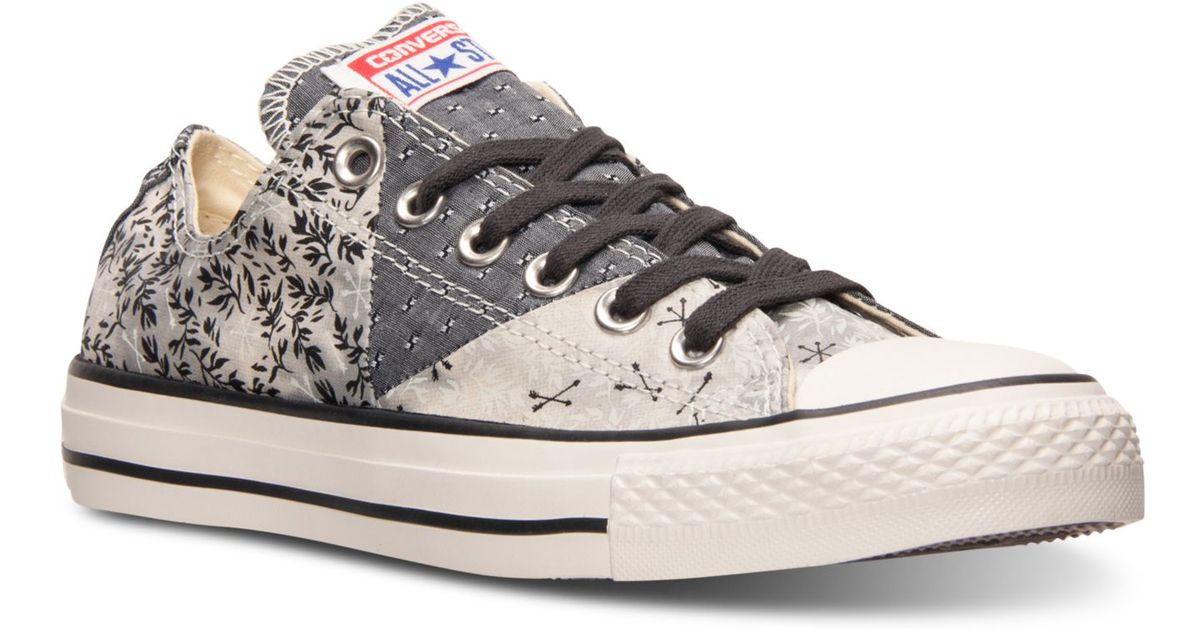 bd39a8f670ce Lyst - Converse Women s Chuck Taylor Ox Casual Sneakers From Finish Line in  Gray