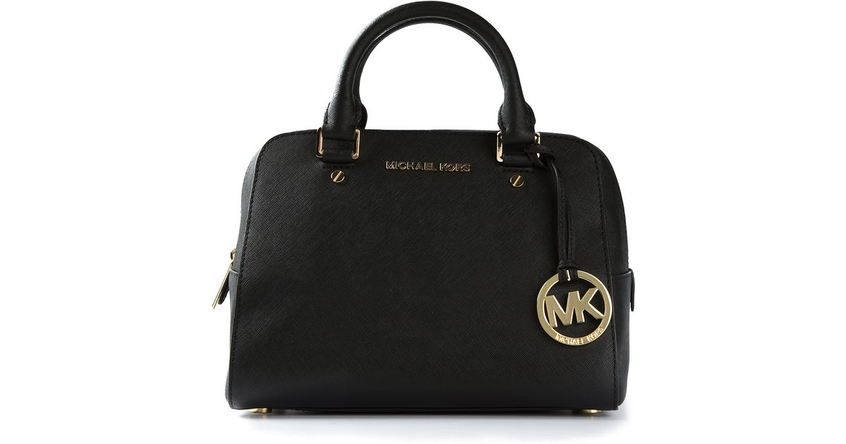 85cf60e4e5a2 MICHAEL Michael Kors Logo Fob Bowling Bag in Black - Lyst