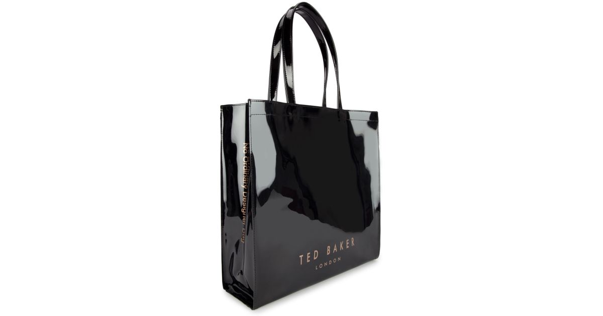 9c108f3a5969fc Ted Baker Bowicon Large Bow Trim Shopper Bag in Black - Lyst