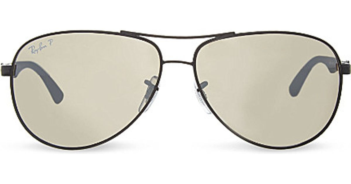 Ray-ban Rb8313 Tech Aviator Sunglasses in Brown for Men   Lyst 78f048f80089