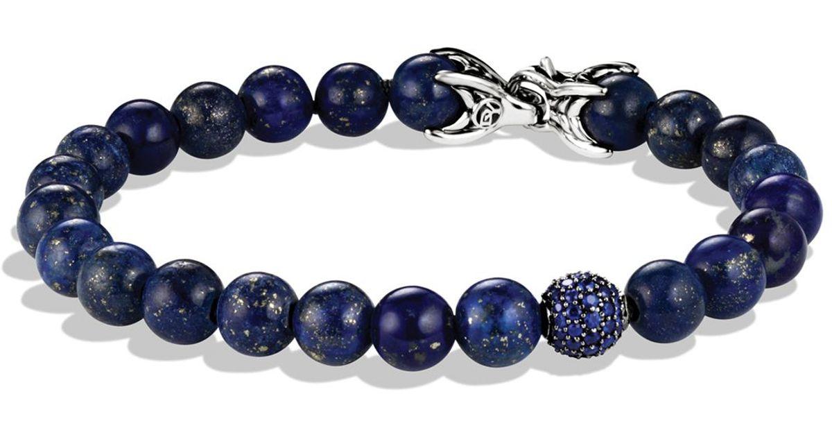 Lyst David Yurman Spiritual Beads Bracelet With Lapis Lazuli Shires In Blue