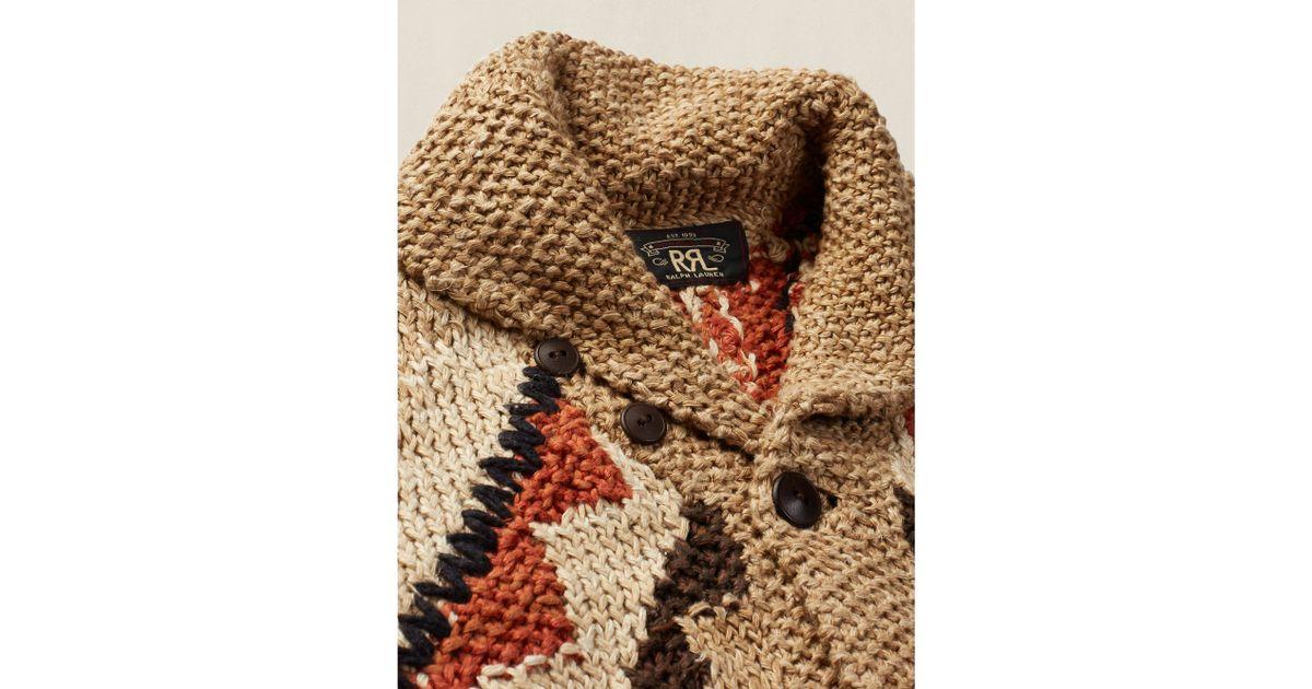 Lyst - Rrl Wool-blend V-neck Pullover in Brown for Men