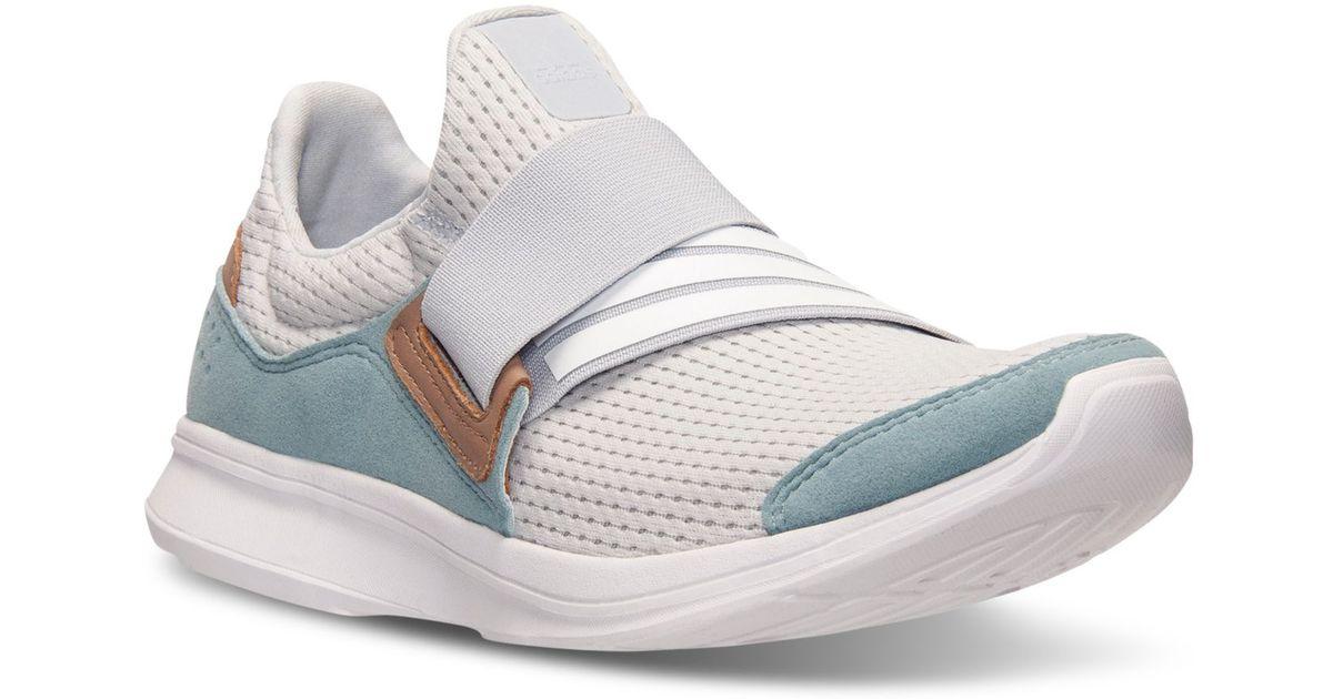61c2d1bdfbf1 Lyst - adidas Originals Women s Lite Slip-on Running Sneakers From Finish  Line in Gray
