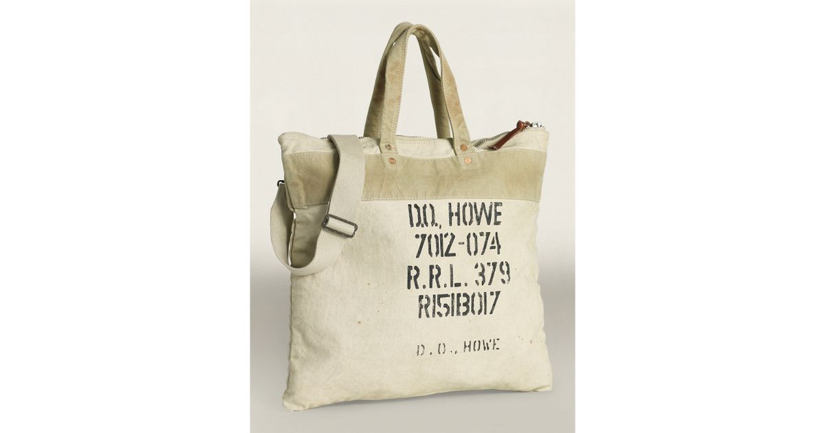 4cef50ec81 Lyst - RRL Canvas Tote Bag in Gray for Men