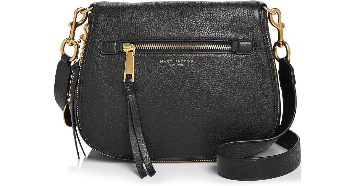 dd602afdcd7 Marc Jacobs Recruit Saddle Bag in Red - Lyst