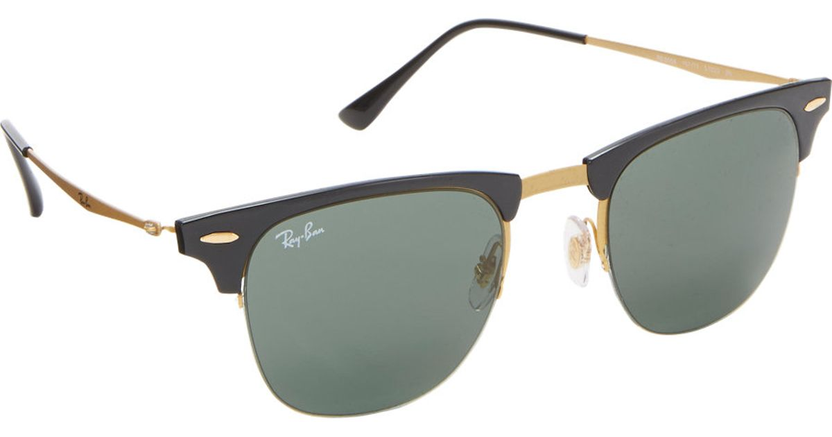 9bc95c946c ... australia ray ban tech light clubmaster sunglasses in black for men lyst  db455 634af