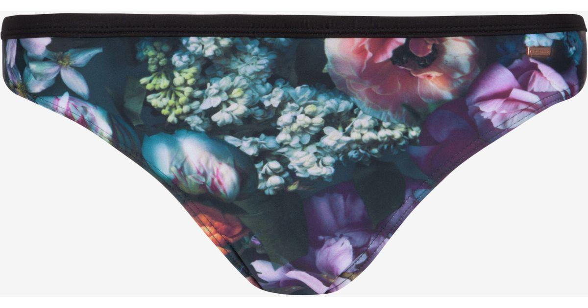 3b56118da24633 Lyst - Ted Baker Shadow Floral Bikini Bottoms
