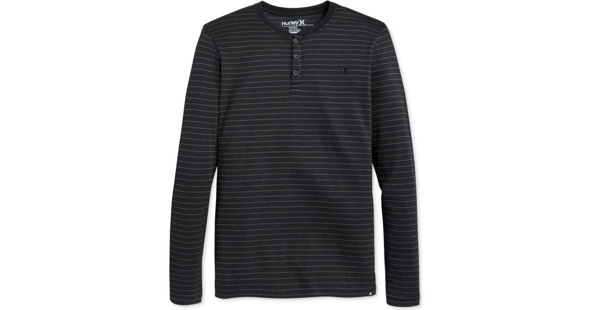 77145c40a Lyst - Hurley Shore Break Dri-Fit Henley Shirt in Black for Men