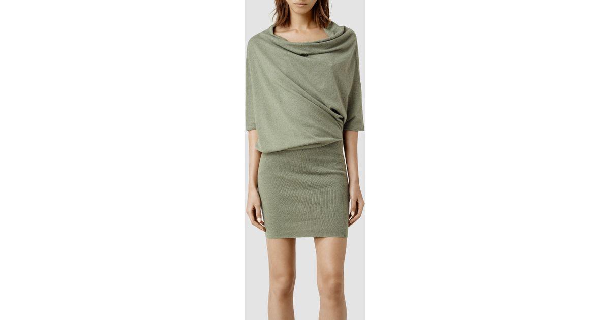 030088b36ce AllSaints Tilda Sweater Dress in Green - Lyst