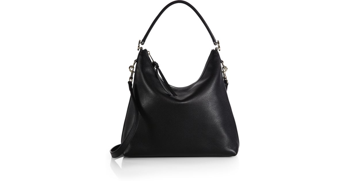 Lyst - Gucci Miss Gg Leather Hobo Bag in Black f1dcd56b55