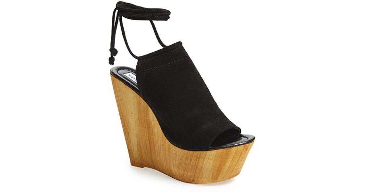 957275602e1 Lyst - Steve Madden  Bonelli  Platform Wedge Sandal in Black