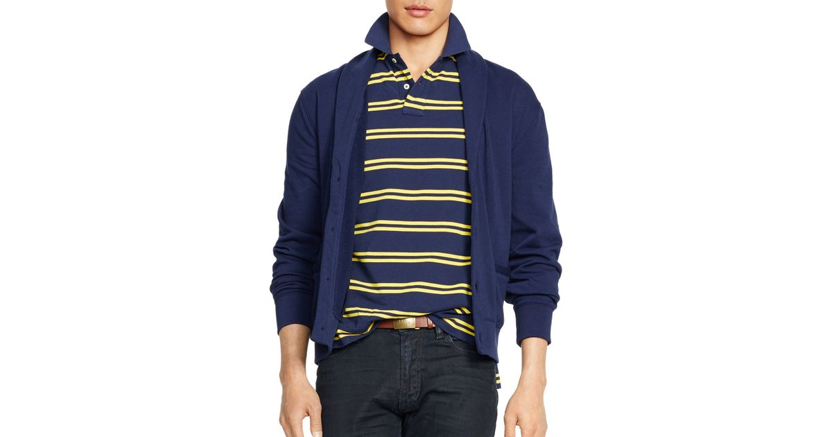 861925f93 Lyst - Ralph Lauren Polo Fleece Shawl Cardigan in Blue for Men