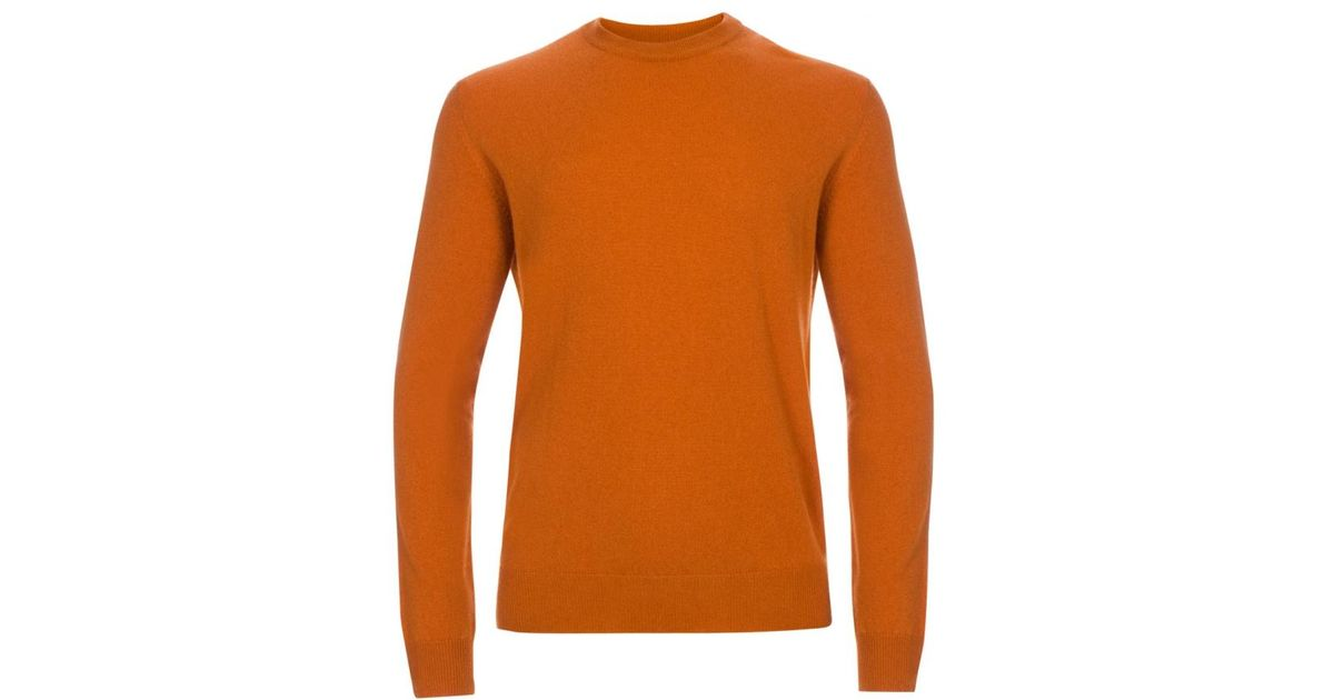 Paul smith Men's Burnt Orange Cashmere Sweater in Orange for Men ...