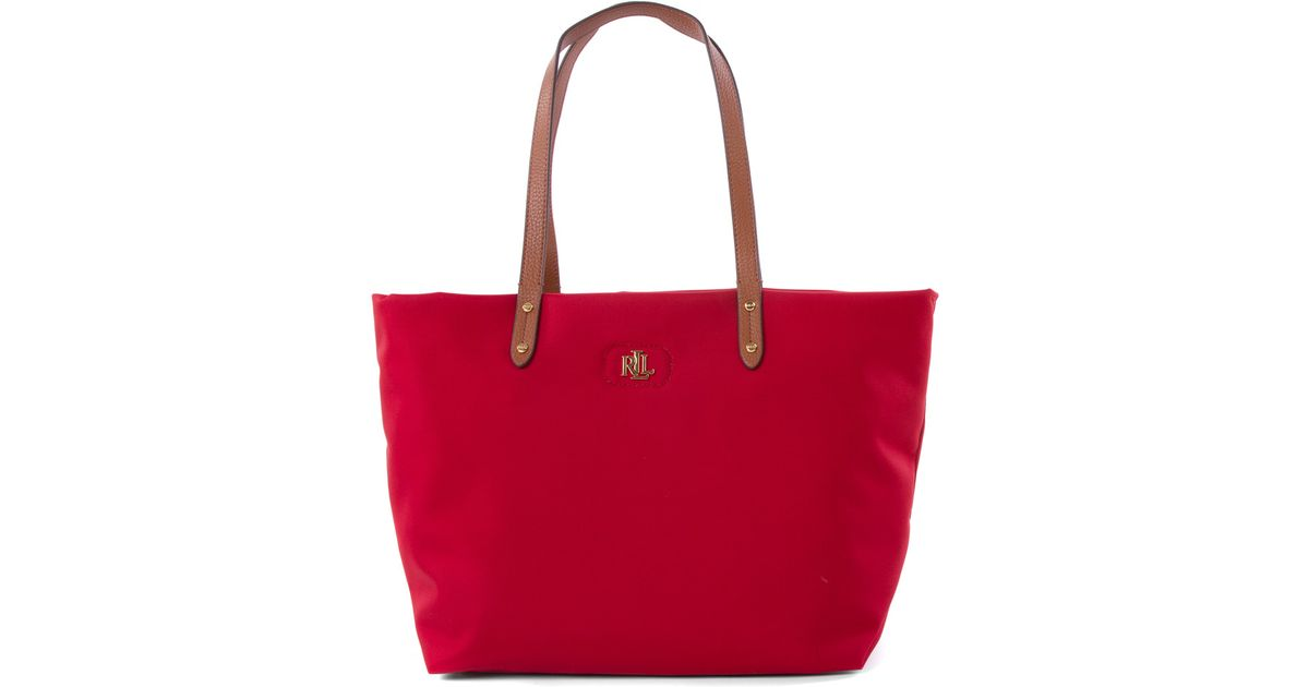 Ralph Lauren Tote Laukku : Lauren by ralph bainbridge tote in red lyst