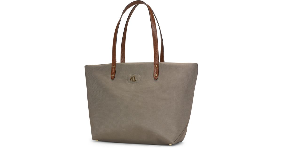Ralph Lauren Tote Laukku : Pink pony bainbridge tote in khaki new lyst
