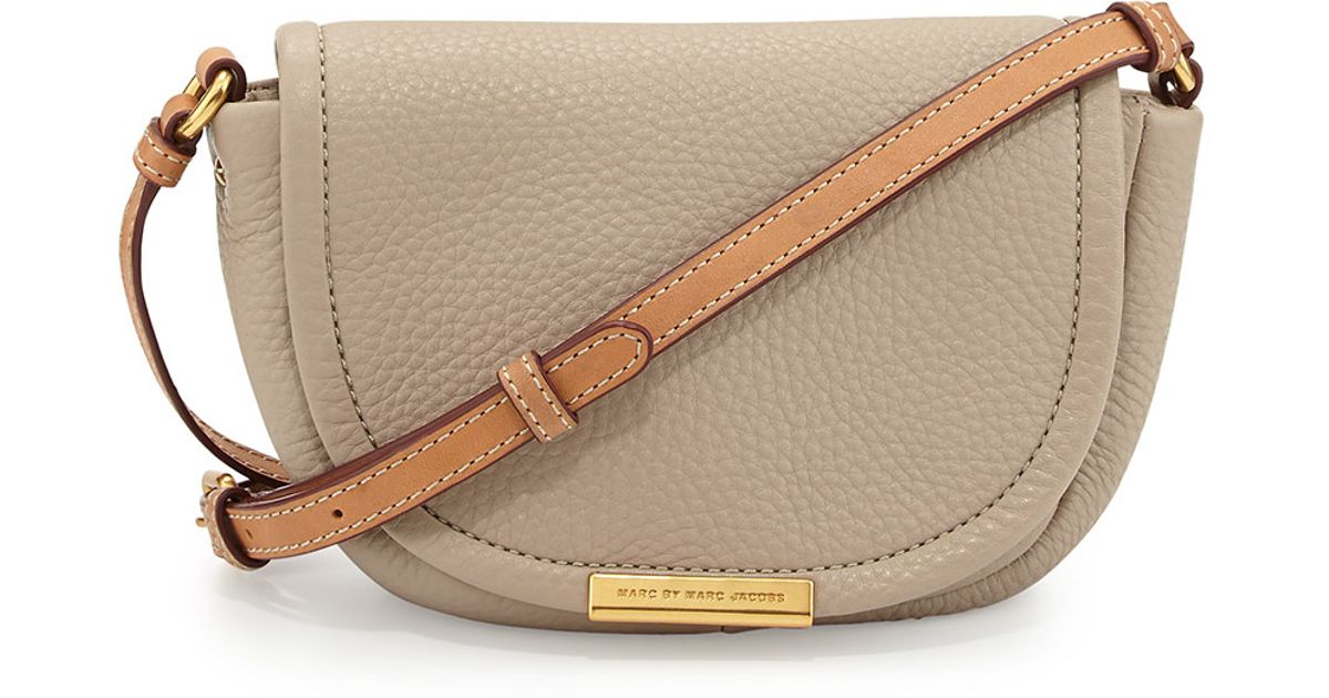 e2a5651debd Marc By Marc Jacobs Softy Saddle Crossbody Bag Creme in Natural - Lyst