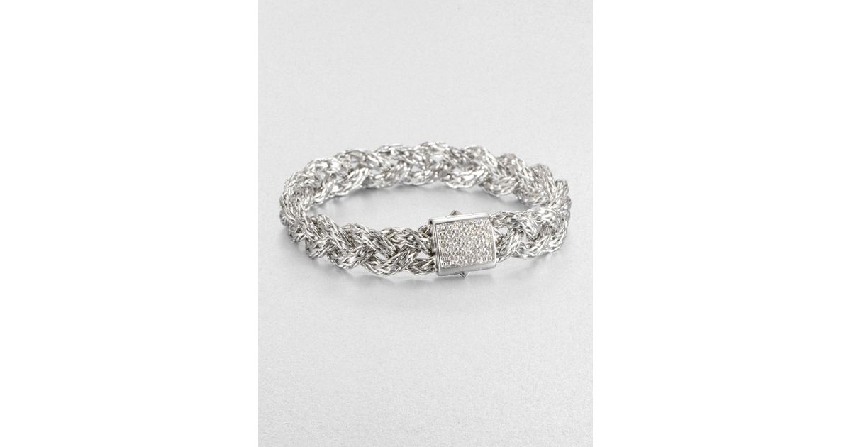 Lyst John Hardy Classic Chain Diamond Sterling Silver Small