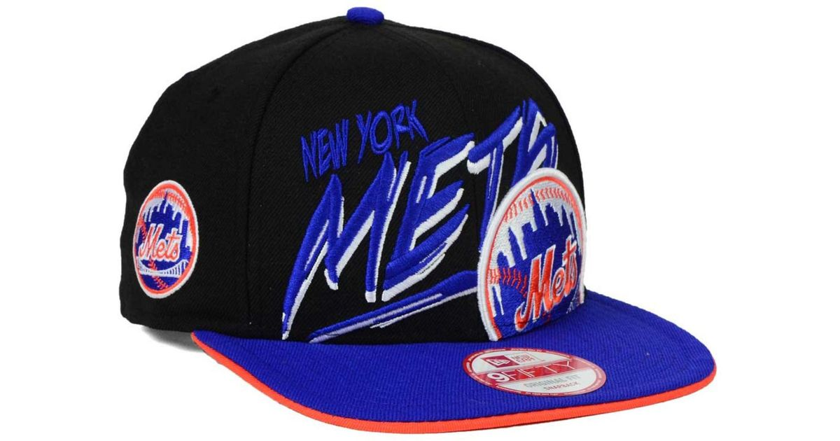 reputable site c6281 7c486 Lyst - KTZ New York Mets Neon Word Scribbs 9Fifty Snapback Cap in Black for  Men