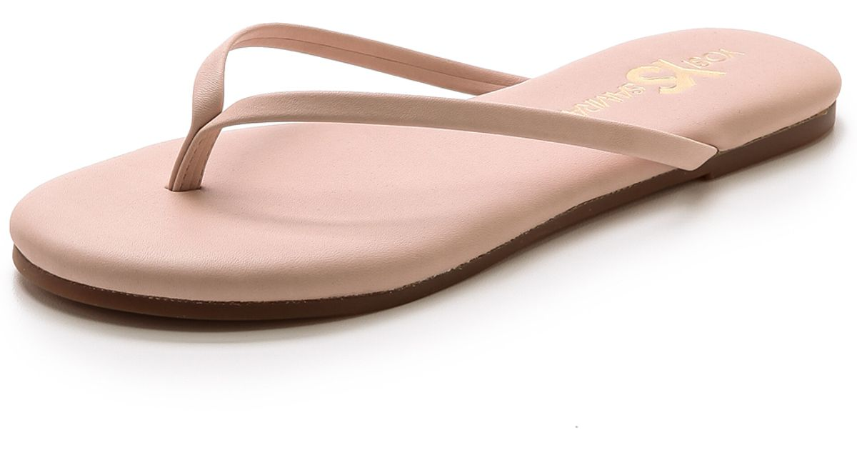 1f93465af49cf Lyst - Yosi Samra Roee Flip Flops Seafoam in Pink