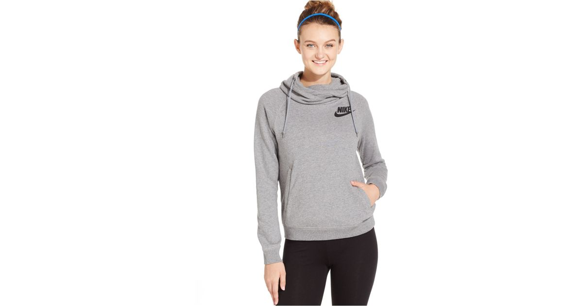 0c7be73f6ccf Lyst - Nike Rally Funnel-neck Pullover Hoodie in Gray