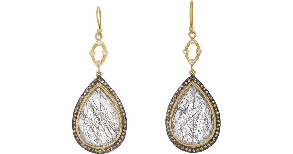 Sara Weinstock Womens Quartz & Grey Diamond Double-Drop Earrings 8J8IwOQd