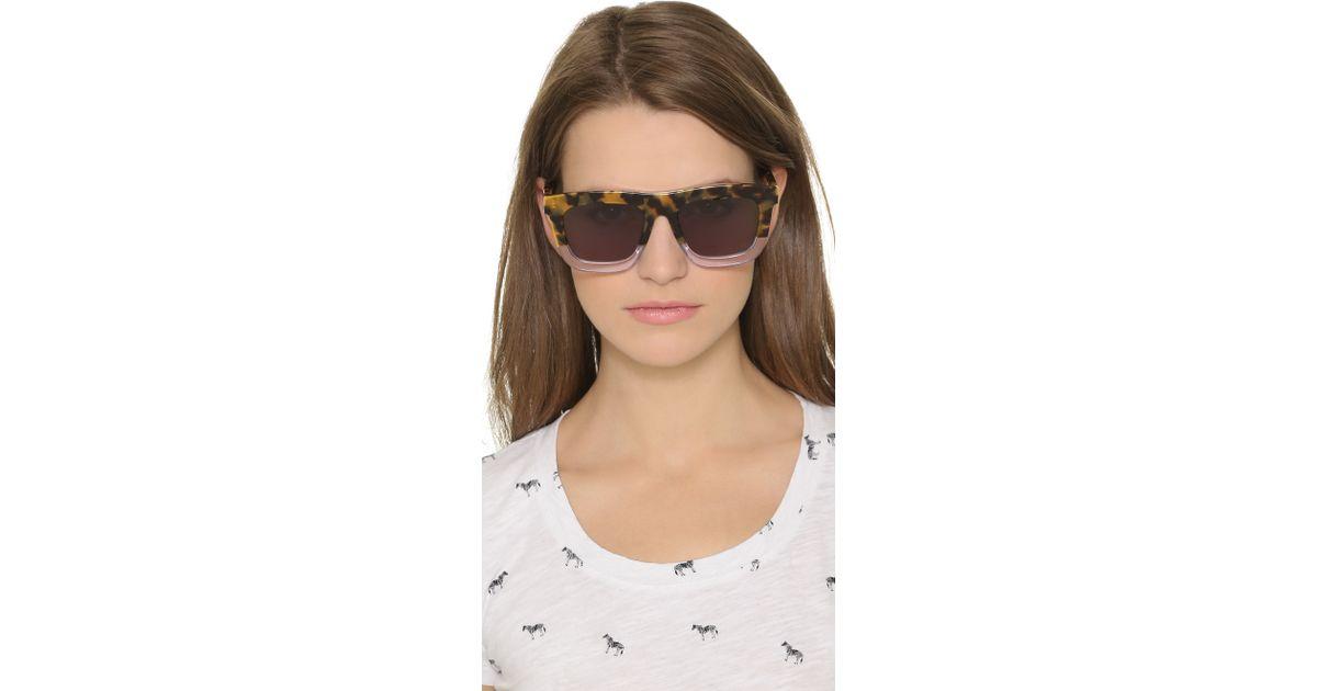 bc4f0186ca7 Karen Walker Deep Orchard Sunglasses - Crazy Tort Clear G15 Mono in Brown -  Lyst