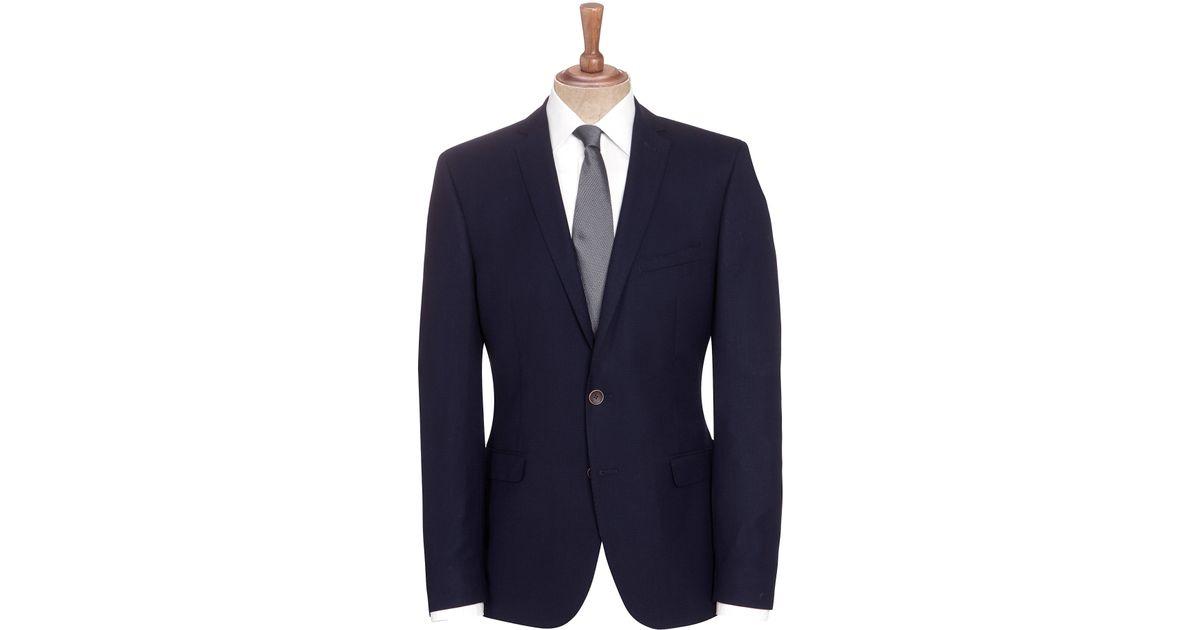 1e12580f37 Ben Sherman Tailoring Camden Fit Basketweave Suit Jacket in Blue for Men -  Lyst
