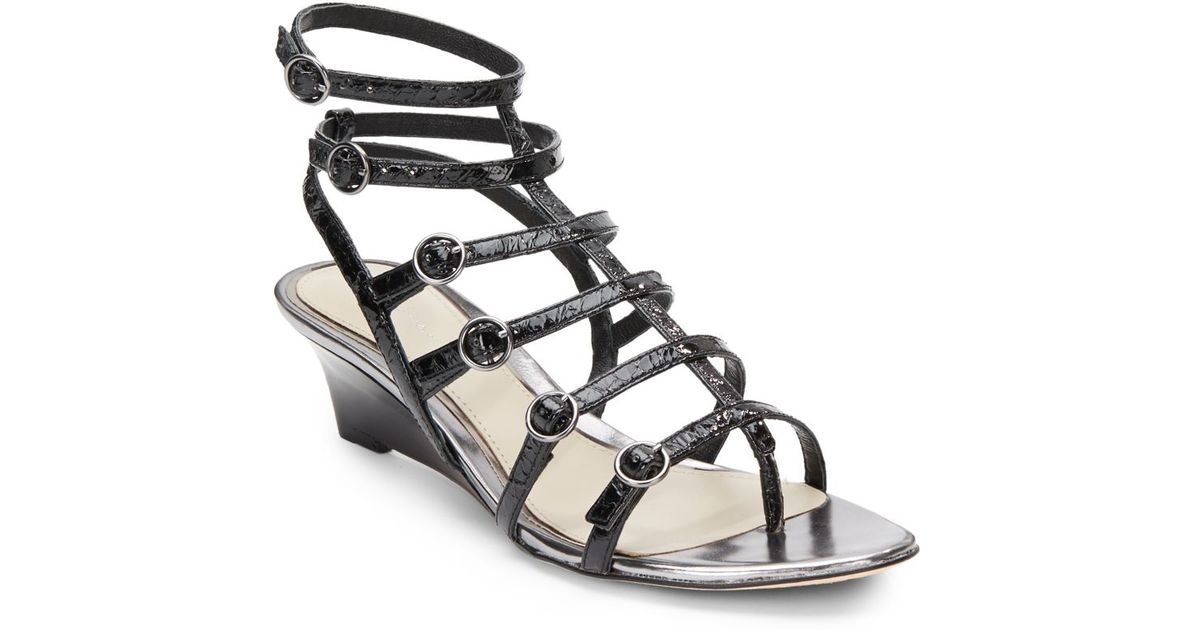 genuine cheap online free shipping exclusive Elie Tahari Leather Caged Wedges enjoy online 2FSHh4jD