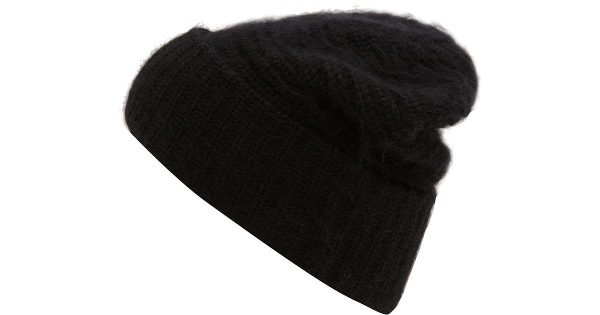 f320f3d5b06 Lyst - Acne Studios Black Daphnee Chunky Knit Wool-Blend Beanie Hat in Black  for Men