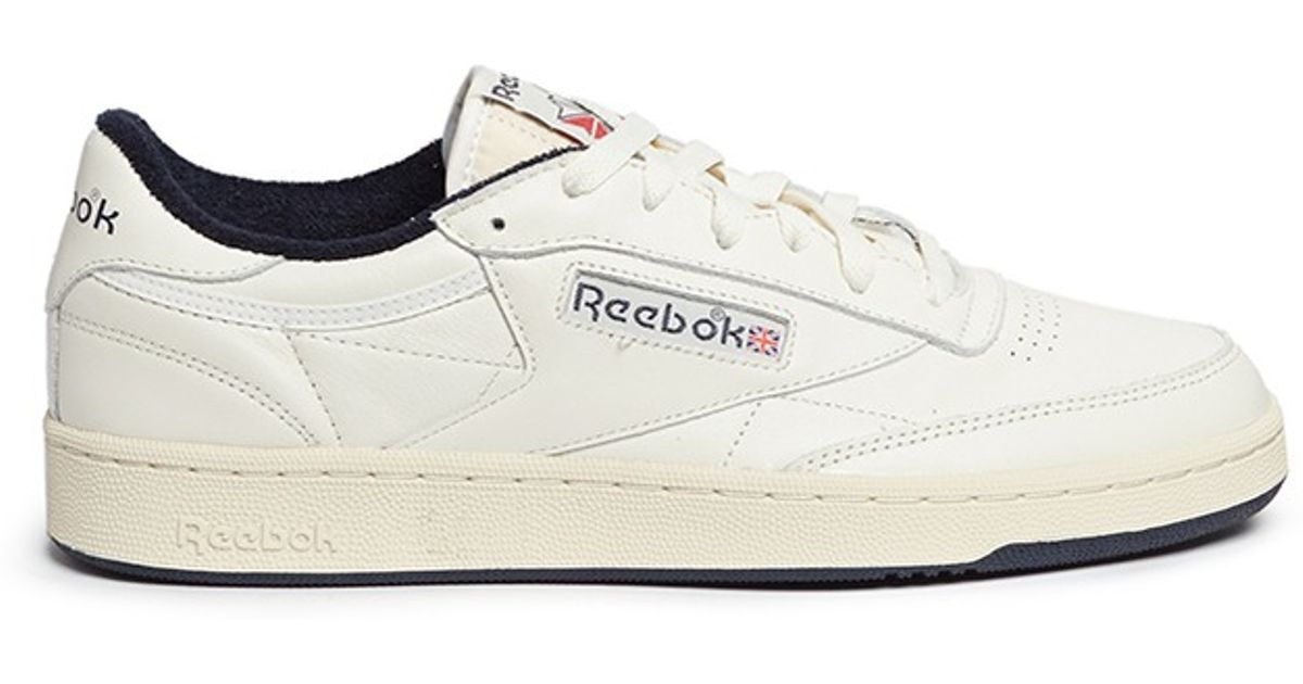 Lyst - Reebok  club C 85 Vintage  Leather Sneakers in White for Men 0adce5740