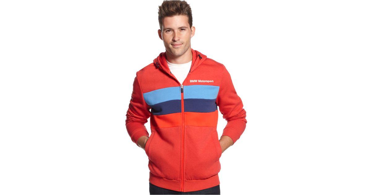 6543a260e70d Lyst - PUMA Bmw Motorsport Full-Zip Fleece Hoodie in Red for Men