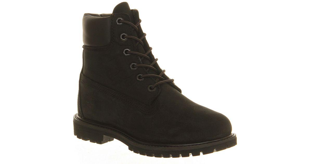 timberland premium 6 boot in black lyst