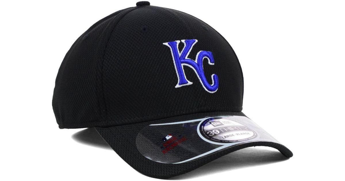 4644f52b KTZ - Kansas City Royals Diamond Era Black 39Thirty Cap for Men - Lyst