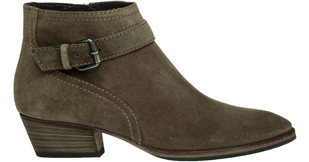 Aquatalia Fanny Suede Ankle Boots In Brown Lyst