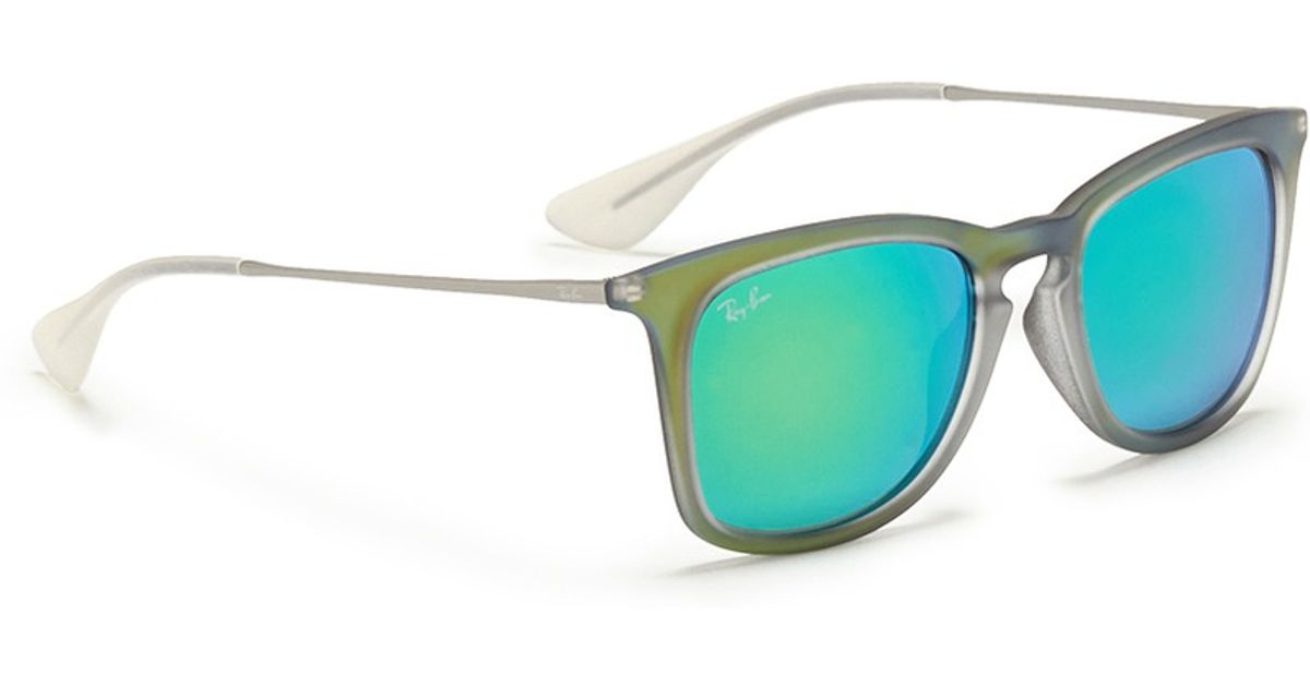 Lyst - Ray-Ban \'rb4221\' Rubberised Frame Wire Temple Mirror ...