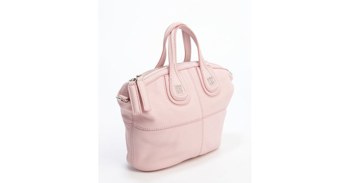 e0efd21ea483 Lyst - Givenchy Pink Goatskin Nightingale Convertible Mini Tote in Pink