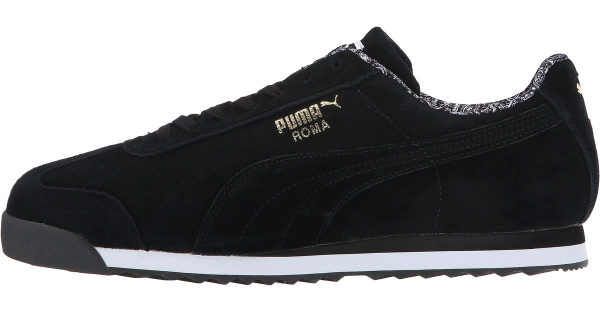 8ac3ba40111d Lyst - PUMA Roma Suede Paisley in Black for Men