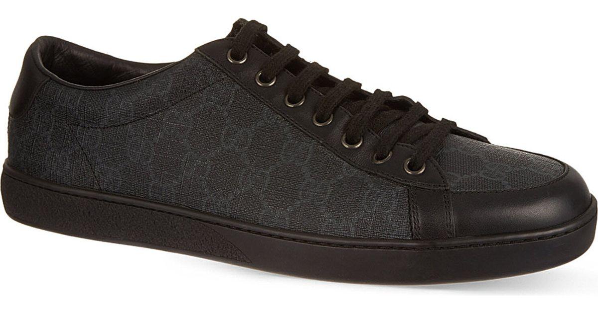 e8649454e96 Lyst - Gucci Brooklyn Gg Low Tops in Black for Men
