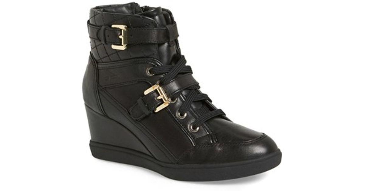 Geox Black 'eleni' Wedge Sneaker