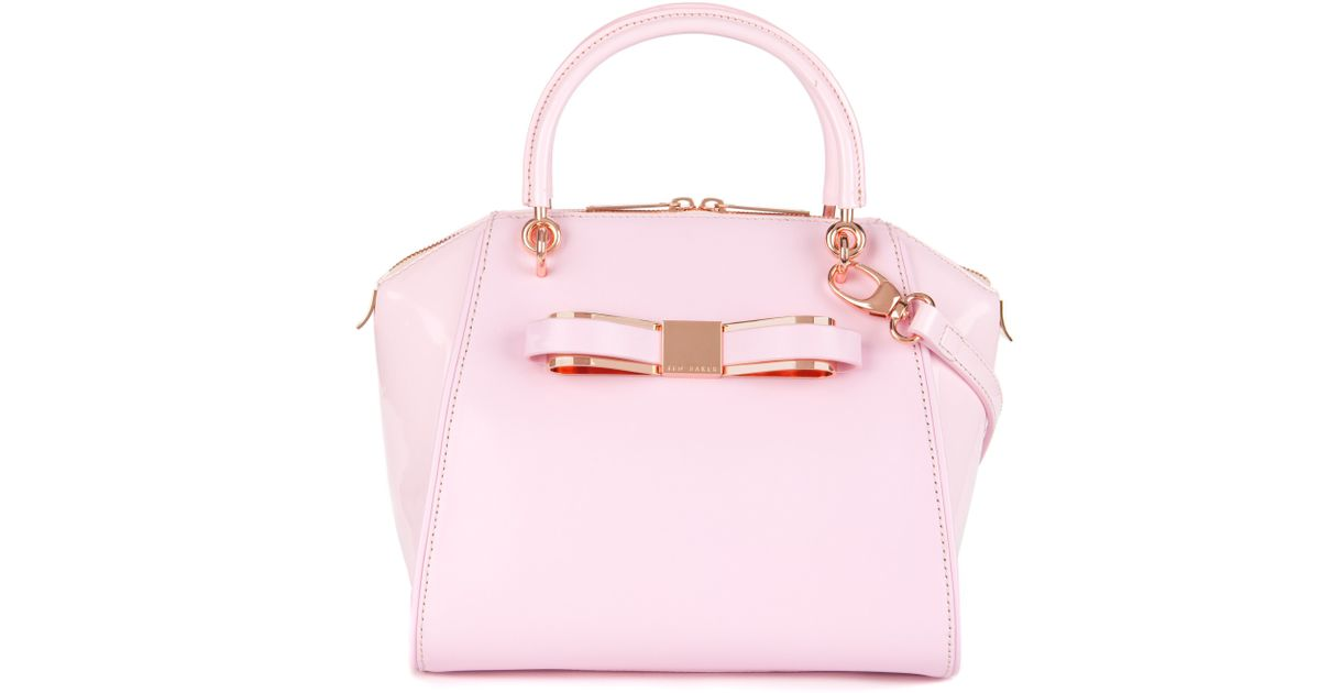 d4007e4a0f33 Ted Baker Leather Tote Bag in Pink - Lyst
