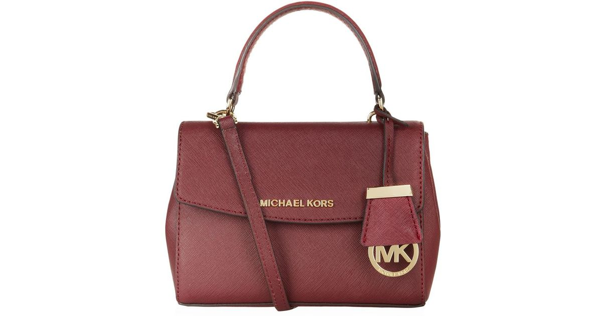 87f49c2f1044 MICHAEL Michael Kors Ava Cross Body Bag in Red - Lyst