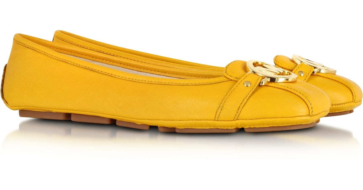 771beb7005afd Michael Kors Fulton Sun Saffiano Leather Moccasin in Yellow - Lyst
