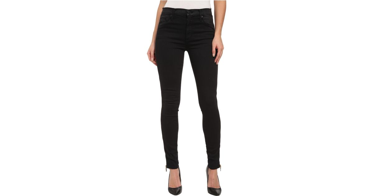 Lyst - Hudson Jeans Shade High Waist Ankle W/ Zips In Rendezvous in Black